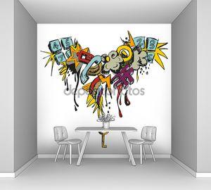 Красочные гранж граффити