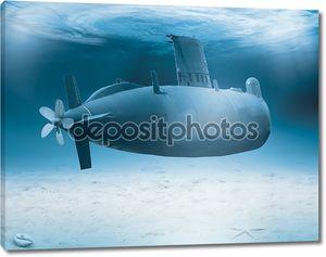 Подводная лодка в мелкой воде