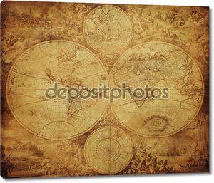 Старинные карты мира около 1675-1710