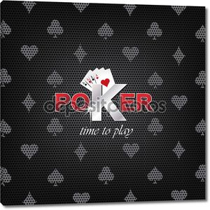 векторная иллюстрация покера на темном фоне с символом карты