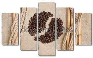 Кофейные зерна на борту