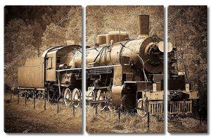 Старый паровоз в Сибири