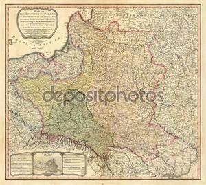 Старая карта Польша
