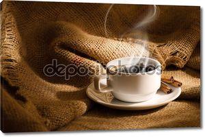 Белый кофе Кубок с дымом