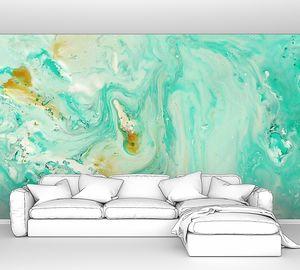 Абстрактный мрамор пастельно-голубой мяты