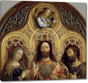Ян Госсарт, по прозванию Мабюз. Христос между Девой Марией и Иоанном Крестителем