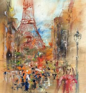 Улица в Париже - Иллюстрация