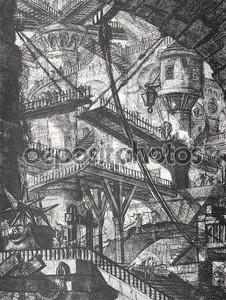 Хранилище с подъемным мостом и винтовая лестница