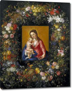 Брейгель Ян (Старший). Мадонна с Младенцем в цветочной гирлянде