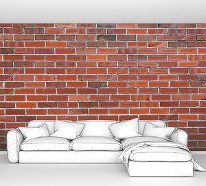 Красная кирпичная стена со светлыми швами