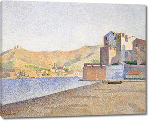 Поль Синьяк. Городской пляж, Коллиур, Opus 165
