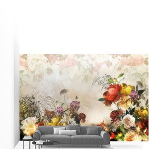 Цветочная композиция из пионов и роз