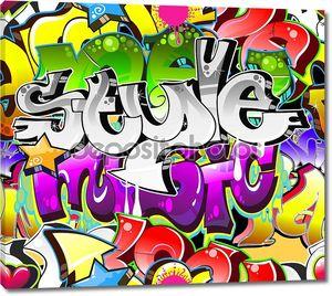 Городской фон искусства граффити. Бесшовная конструкция