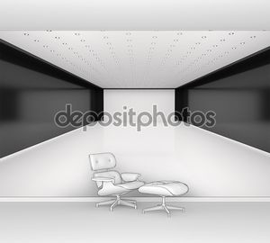 3D иллюстрации абстрактный пустая комната