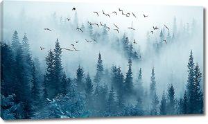 Туман опустился на лес