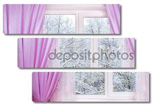 зима из окна
