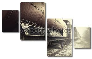 Заброшенные топлива и пассажирский поезд
