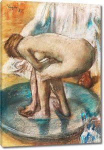 Дега - Обнаженная дама, Женщина, купающаяся в тазу