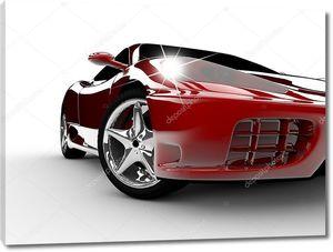 Элегантный красный автомобиль