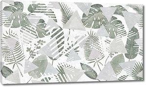Листья папоротника с треугольниками
