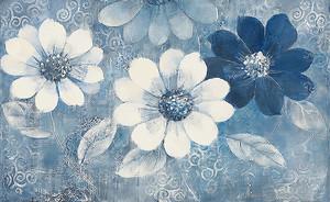Головки цветов в синем тоне
