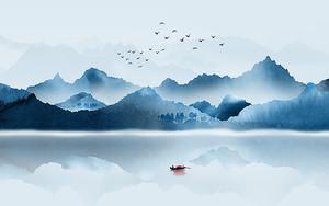 Суденышко на середине озера