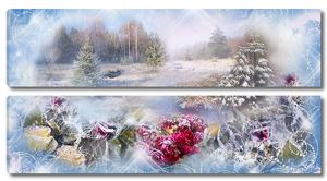 Зима, розы, природа