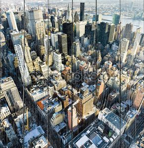 Вид на Манхэттен от Эмпайр Стейт Билдинг, Нью-Йорк Сити