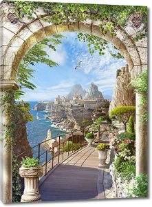 Вид из арки на скалы