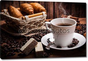 Натюрморт с чашкой кофе