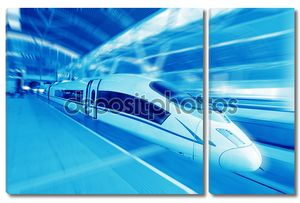 Скоростной поезд на платформе