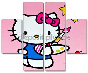 Привет Китти с красками