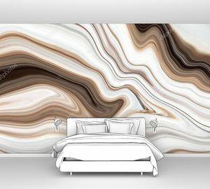 Коричневый мраморный узор текстуры абстрактного фона