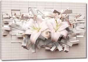 Лилии из стены