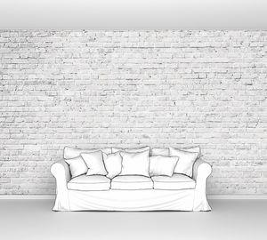 Белый гранж кирпичной стены