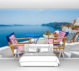 Терраса с видом на море на Санторини