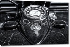 приборной панели и топливного бака мотоцикла harley davidson пользовательских измельчитель, черно-белый