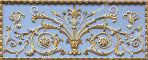 Архитектурный элемент растительного орнамента с позолотой