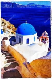 Синий Санторини