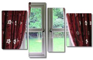окно, драпированные шторы