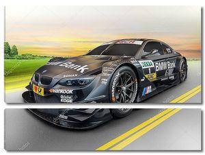 спортивный автомобиль bmw на рассвете, концепция