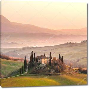 Прекрасное утро в Тоскане