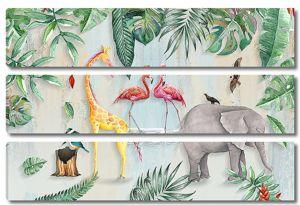 Животные с фламинго