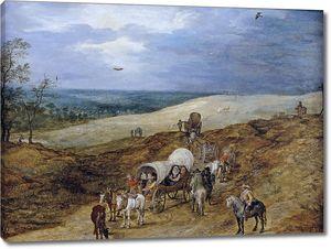 Ян Брейгель (Старший). Пейзаж  с путниками