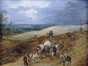 Ян Брейгель (Старший). Пейзаж путниками