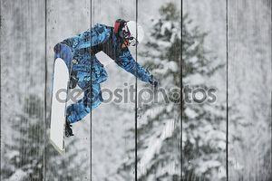скачок сноуборда