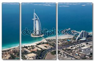 Дубай, ОАЭ. Бурдж аль-Араб сверху