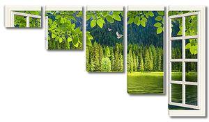 Роскошество зелени за окном