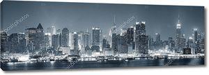 Манхэттен Нью-Йорк Сити черный и белый