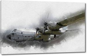 Винтажное изображение истребителя